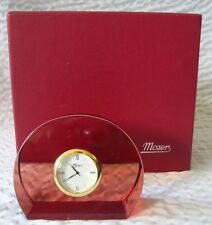 Beautiful Moser Half Circle Rosalin Crystal Clock