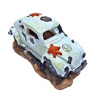 White VW Beetle Car Fish Cave Aquarium Ornament Fish Tank Decoration