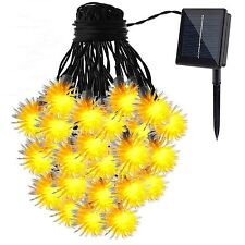 GDEALER Solar String Lights 50LED 30ft Chuzzle Ball Solar Powered Outdoor Str...