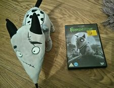 "DISNEY STORE FRANKENWEENIE DVD 2013 AND SPARKY DOG 12"" LONG CHARACTER SOFT TOY"