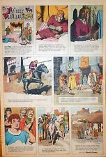 Prince Valiant by Hal Foster - scarce full page color Sunday comic, May 12, 1963