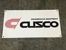 Cusco Progressive Equipment banner sign shop garage suspension coilovers racing