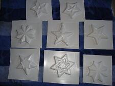 8 schöne Sterne Gießformen Weihnachten