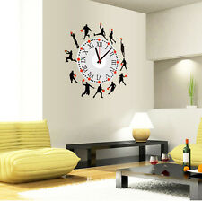 Removable Basketball Style Clock Home Room DIY Decor Art Mural Wall Sticker New