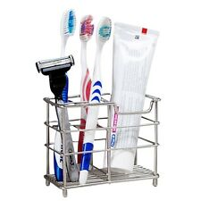 New Stainless Steel Stand Bathroom Toothbrush Toothpaste Holder Kitchen Rack