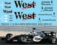 1/18  McLAREN MERCEDES MP4/20 2005 DECALS TB DECAL TBD220