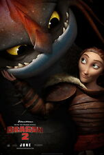 "033 How to Train Your Dragon 2 - 2014 Hot Movie Film 14""x21"" Poster"