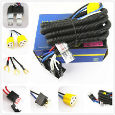 OEM Ceramic H4 Headlight Relay Wiring Harness 2 Headlamp Light Bulb Socket Plug