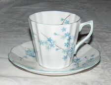 Rosina Bone China Cup & Saucer - Blue Flowers