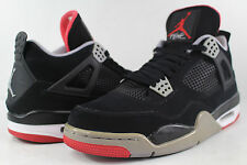 Nike Air Jordan Retro IV Bred 4 Black Cement Grey Fire Red Size 11.5