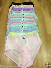 """12 Pcs.Pinup Vintage Style Sheer Nylon Lacy PANTIES Gusset KnickersW 36""""-42"""" Lot"""