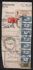 ITALY 1976 COVER CUT FIRENZE PACCHI BOLLETINO MULTIFRANKED