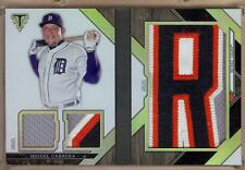 2016 TOPPS TRIPLE THREADS BOOKLET MIGUEL CABRERA LETTER PATCH 1/3!!
