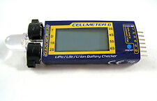 Battery Voltage Checker Tester & Alarm Cellmeter 6 1S~6S LiPo LiFe Li-ion USA H1