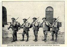 Italienne Alpes Chasseurs dans leurs nouveaux uniformes historiques accueil de 1906