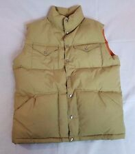 Vintage North Face Brown Label Down Vest Men's Large With Logo Snaps