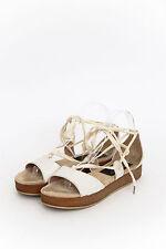 MARC BY MARC JACOBS White Lace Up Flatform Platform Wedge Sandal 7.5/37.5/38
