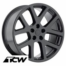 "4) 22 inch 22x9"" Dodge Viper Style OE Replica Gloss Black Wheels Rims 5x115 +18"
