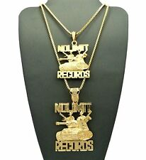 "Hip Hop Micro No Limit Records Tank Pendant W/ 24"", 30"" Box Chain 2 Necklace Set"