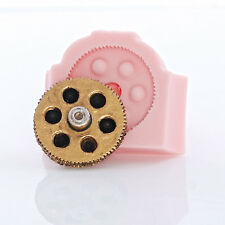 Silicone Gear Mold Steampunk Cog Flexible Food Safe Jewelry Craft Mold  (855