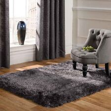 Large Mega Thick Shaggy Rugs In Dark Grey - 7cm Deep Plush Pile 200x300cm