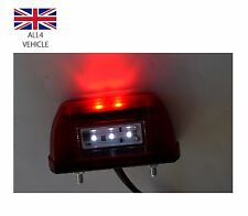 RED LED LICENSE NUMBER PLATE MARKER TAIL LIGHTS TRUCK TRAILER LORRY MOTORHOME