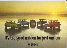 MINI 850, 1000, CLUBMAN Saloon & Estate Plus Mini 1275GT vendita opuscolo 1974 1975