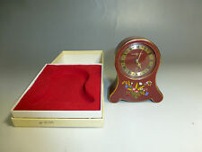 RARE VINTAGE SWISS REUGE MUSIC ALARM CLOCK MECHANICAL WIND UP CLOCK &  MUSIC BOX