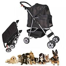Dog Strollers For 2 Small Dogs Two Double Pet Puppy Wide Wheels Walking Carrier