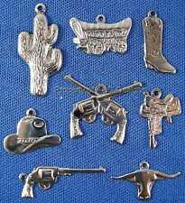 135pc S/S Plated Country Western Cowboy Lot Charms 4675