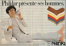 Publicité Advertising 1981  (Double page)  Chaussettes PHILDAR