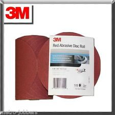 "3M 1109 Stick It Adhesive Back 6""  320 Grit Disc Sandpaper 100 Sheets/Roll 01109"