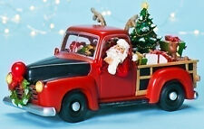 CHRISTMAS DECORATIONS - SANTA IN PICK UP TRUCK - LIGHTED, MUSICAL & ANIMATED