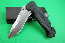 High quality Tactical Pocket Folding Knife Saber clip Assisted Opening Rescue