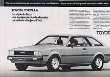 Publicité Advertising 016 1980 Toyota Corolla (2 pages)