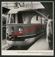 Dt. Reichsbahn Diesel Schnelltriebwagen Fliegender Zug Bahnsteig Reisende 1935!!