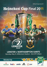 Leinster v Northampton Saints 21 May 2011 Heineken Cup Final RUGBY PROGRAMME