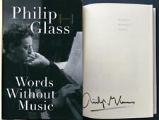 Philip Glass - SIGNED - Words Without Music - 1st ed.