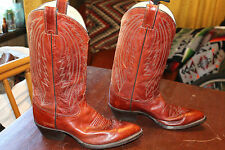 SWEET VINTAGE JUSTIN MENS LEATHER URBAN COWBOY BOOTS 9 D