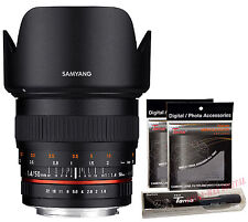 Samyang 50mm F1.4 AS UMC Full Frame Standard Lens for Canon EOS EF + GIFT