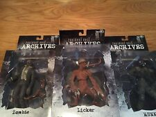 Resident Evil Archives Series Figures. Licker  Hunk And Zombie