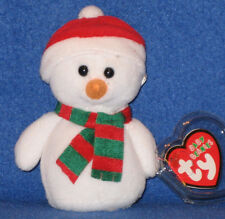 TY SNOWCAP the SNOWMAN JINGLE BEANIE  - MINT with MINT TAG