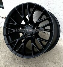 "18/19"" Satin Black C7-Z06 Style wheels for 2005-2013 C6 Corvette"