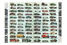 "Hot Wheels 1970 Redline 24"" x 36"" Poster - Cord, 442, Beach Bomb Corvette & more"