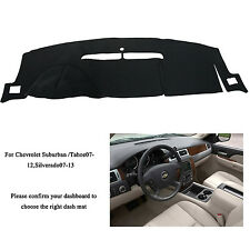 For Chevrolet Suburban Tahoe Silverado 2007-12 Dashmat Dashboard Mat Dash Cover