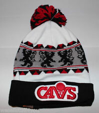 New Era Cleveland Cavaliers NBA Red White Black Beenie Cap Hat New