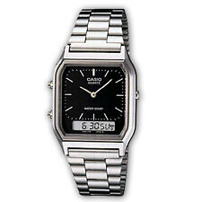 Casio AQ230A-1D Silver Analog and Digital Watch Black Dial AQ230 COD Paypal