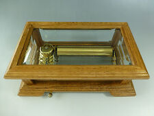 VINTAGE REUGE 72 MUSIC BOX, CRYSTAL CLEAR GLASS FULLY SERVICED ( WATCH VIDEO )