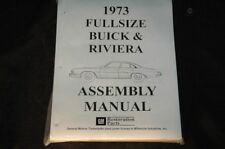 1973 BUICK & RIVIERA ASSEMBLY MANUAL 100'S OF PAGES OF PICTURES, PART NUMBERS &