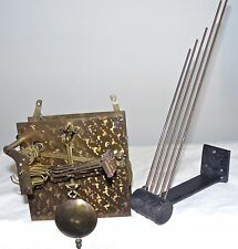 English Westminster Chimes Clock Movement 8 Day Mantel mantle vtg brass part